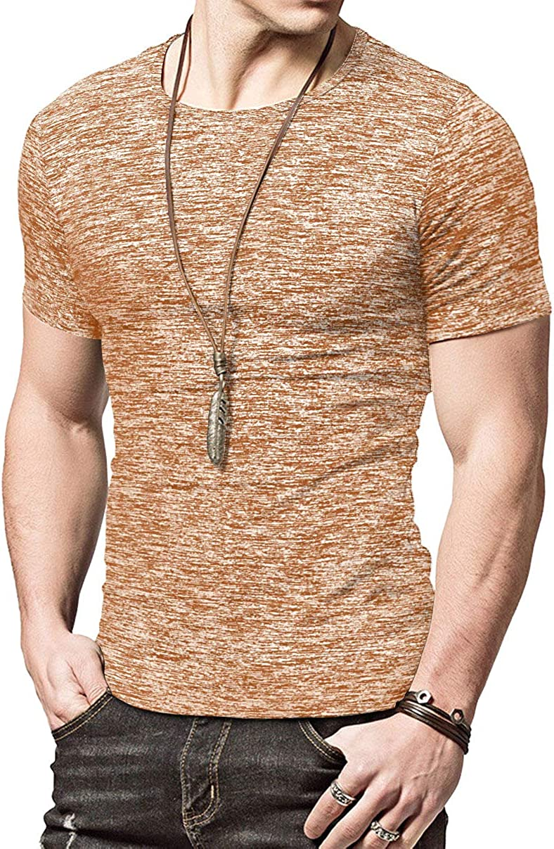 KUYIGO Mens Active School Running Shirt Gym Workout Quick Dry Crew Neck Short Sleeve Tops at  Men's Clothing store