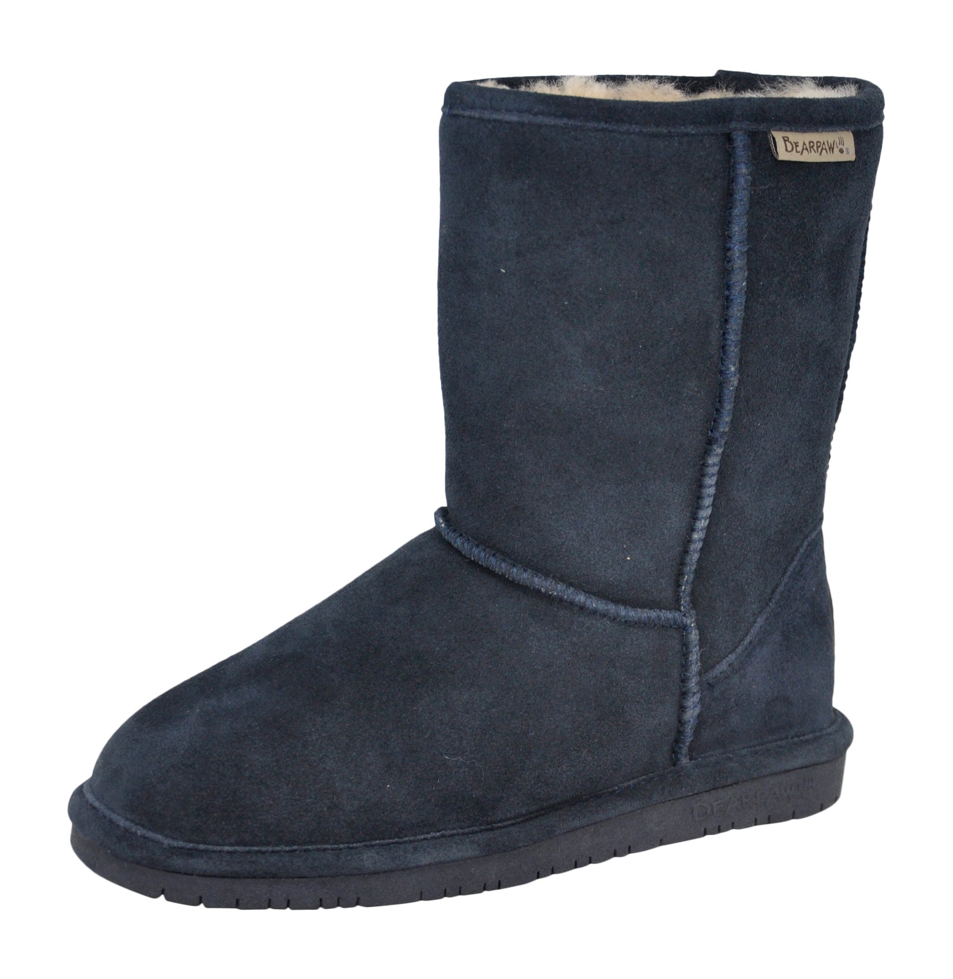 BEARPAW Women's Emma Short Winter Boot, Navy, 10 B(M) US