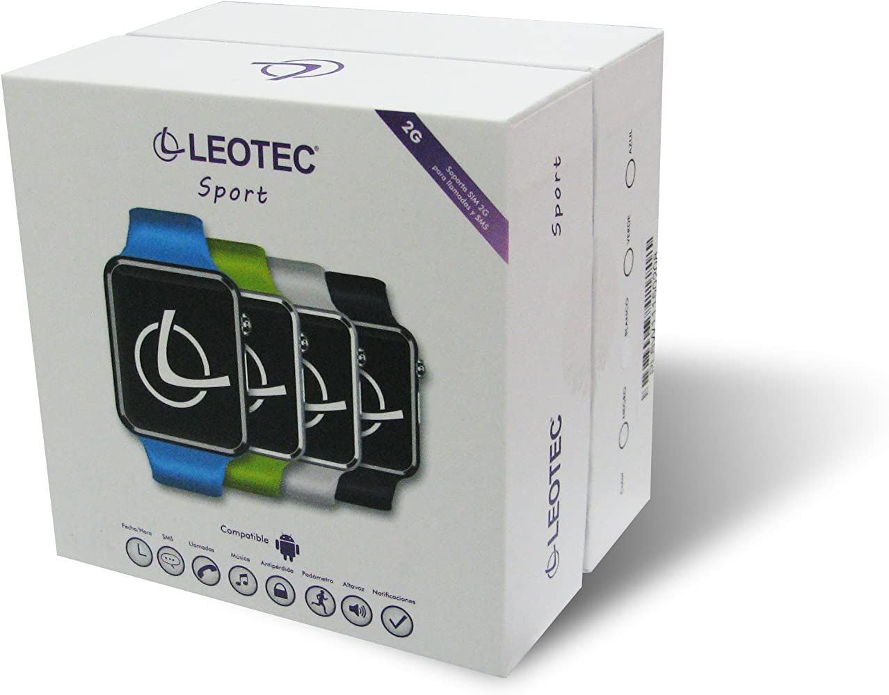 Leotec Smartwatch Hombre de Digital con Correa en Plástico LESW02B ...