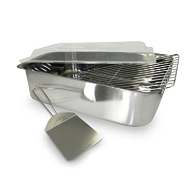 ExcelSteel 531 4 Piece Stainless Roaster with with Cover, Rack and Spatula,