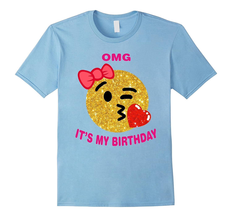 It's My Birthday Emoji Pink Shirt-T-Shirt