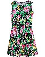 9f8b5e98faf9e ... 7 8 9 10 11 12 13 Years. £4.99. A2Z 4 Kids® Girls Skater Dress Kids  Black Floral Print Summer Party Dresses New Age