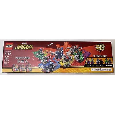 LEGO Marvel Super Heroes Mighty Micros 3 IN 1 Box Set - Spiderman vs Green Goblin, Captain America vs Red Skull, Hulk vs Ultron: Toys & Games