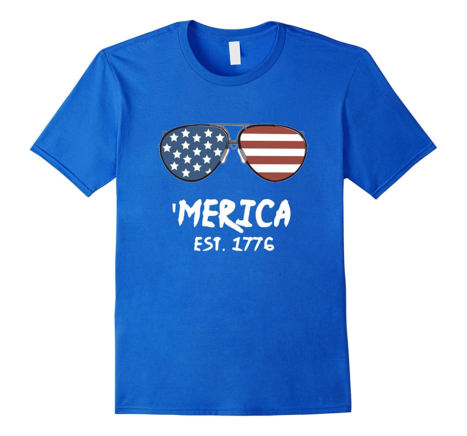 'Merica Patriots Sunglasses Tee T-shirt July 4 America Pride-TH