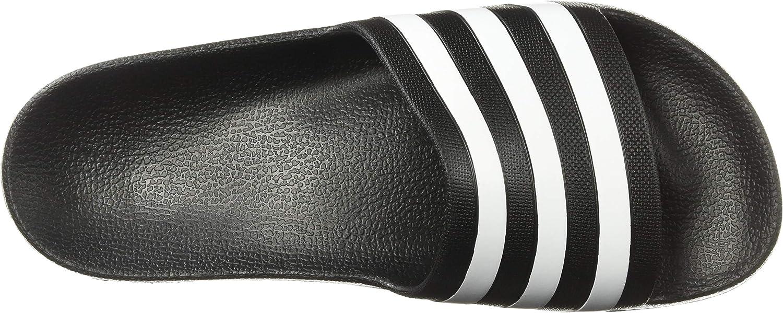 Adidas Mujeres Punta Abierta Casual Pantuflas, Talla Black White Black