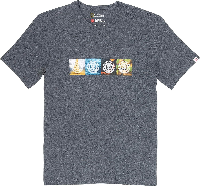 ELEMENT Horizontal Seasons SS Tops y Camisetas Hommes Negro Camisetas Manga Corta