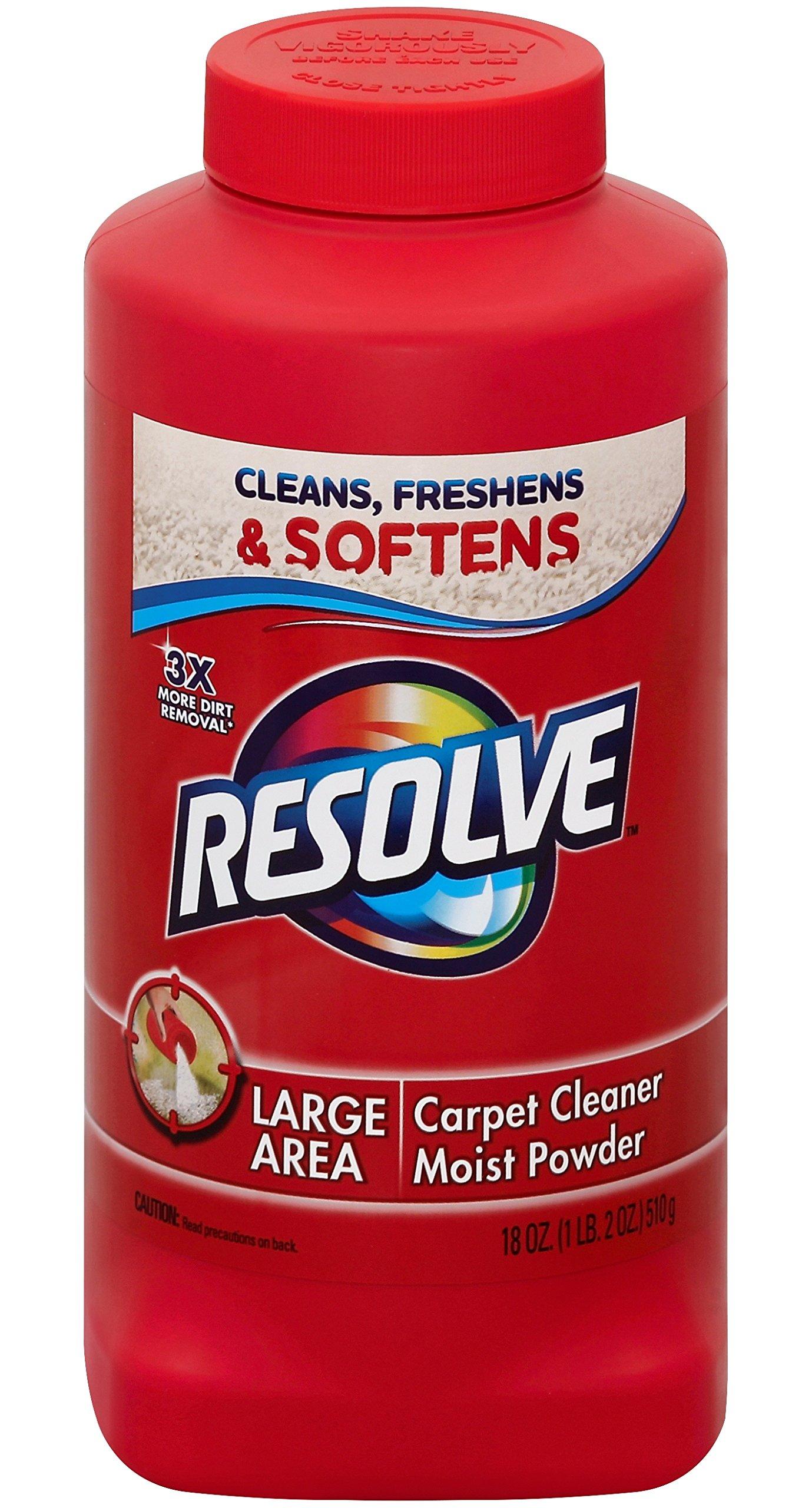 Resolve Carpet Cleaner Powder, 18 oz Bottle, For Dirt & Stain Removal