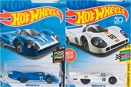 blue color Hot wheels 2019 Porsche 917 LH