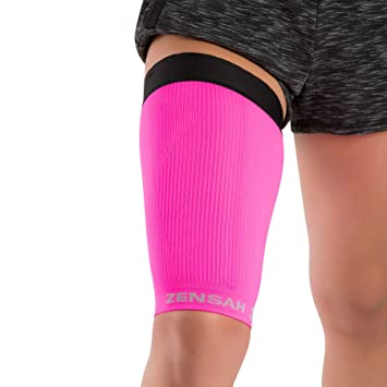 0697a05e97 Zensah Thigh Compression Sleeve Neon Pink - LG/XL: Amazon.co.uk ...