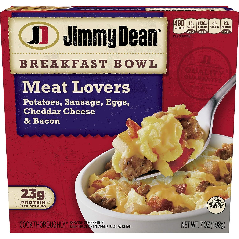 Jimmy Dean, Meat Lovers Breakfast Bowl, 7 oz (frozen)