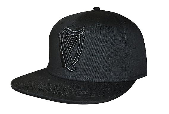 20ce642328607 Guinness Black Harp Flat Brim Baseball Cap  Amazon.co.uk  Clothing