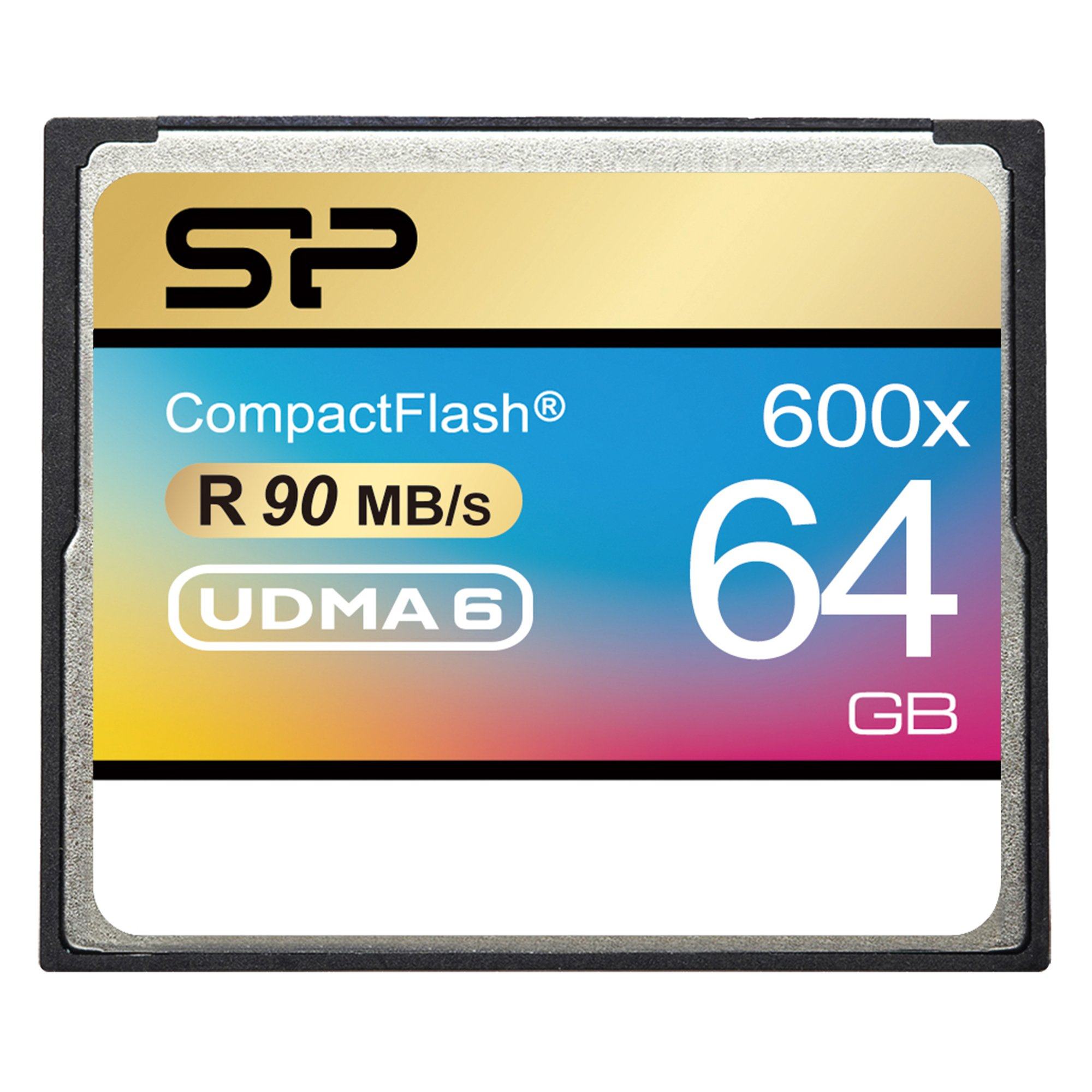Silicon Power 64GB Hi Speed 600x Compact Flash Card (SP064GBCFC600V10)