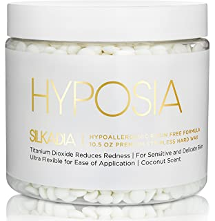 Hyposia Luxury Hypoallergenic Hard Wax Beans - for Sensitive Skin. Australian Made Creamy Smooth Coconut