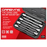 CARBYNE 7 Piece Extra Long Hex Bit Socket Set