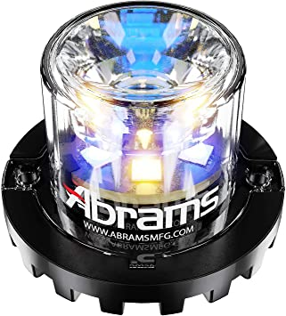 6 LED Emergency Vehicle Truck LED Hideaway Surface Mount Strobe Warning Light 18W Amber//Red Abrams SAE Class-1 Impact 6