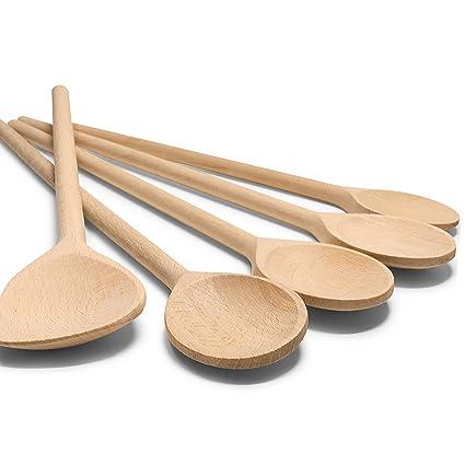 RSW24® - Set 5 pezzi cucchiaio da cucina in legno duro, 25 - 35 cm ...