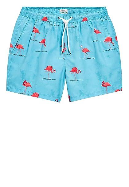 next Hombre Shorts De Baño con Flamencos Azul Claro XXXL  Amazon.es  Ropa y  accesorios 56e812686da