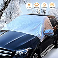 $26 » Car Windshield Snow Cover, Universal Sunshade Kit with Mirror Covers for Compact and Mid-Size…