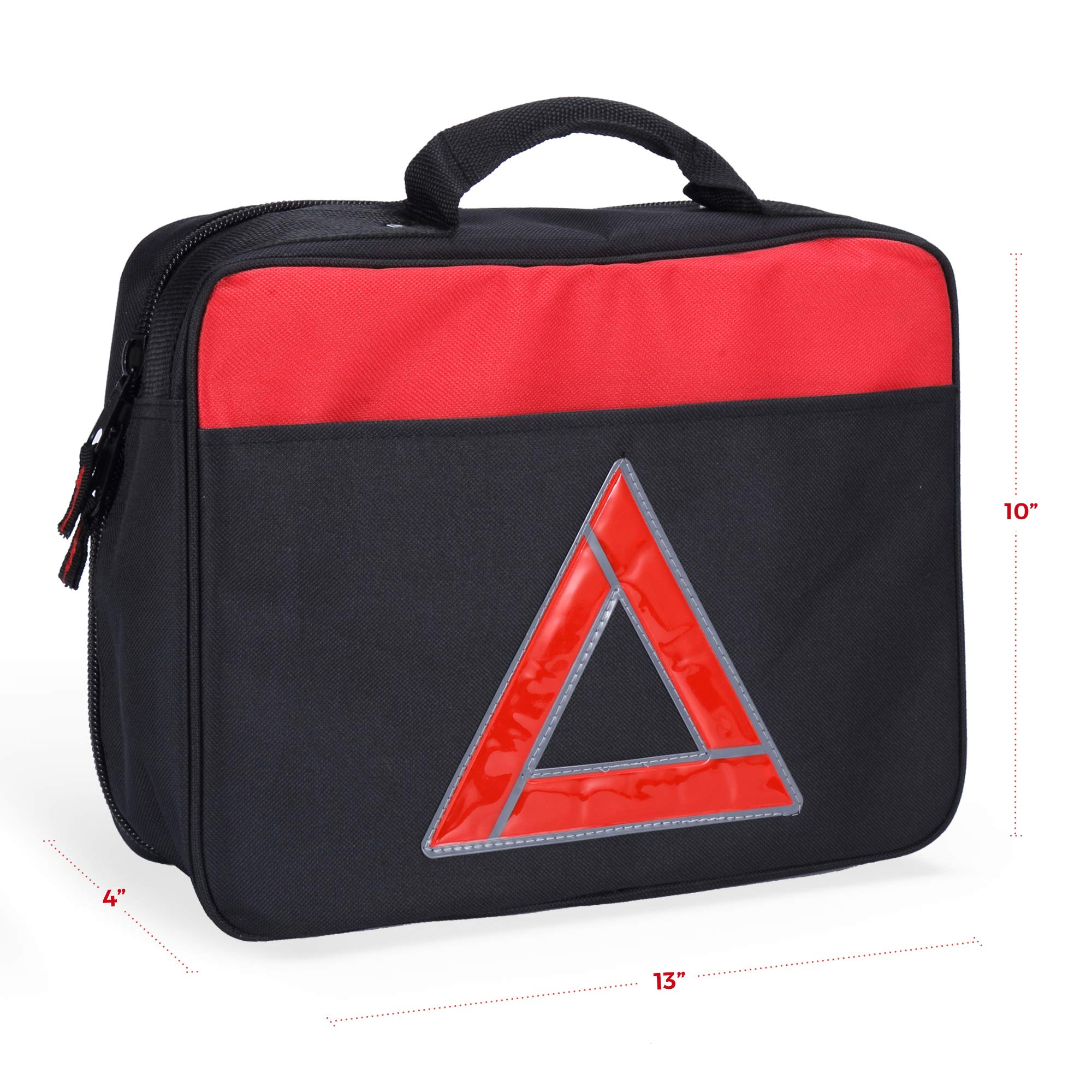 Reflective Safety Triangle and More Truck First Aid Kit Case Camper Ideal Winter Accessory for Your car Thrive Roadside Assistance Auto Emergency Kit Tools Contains Jumper Cables