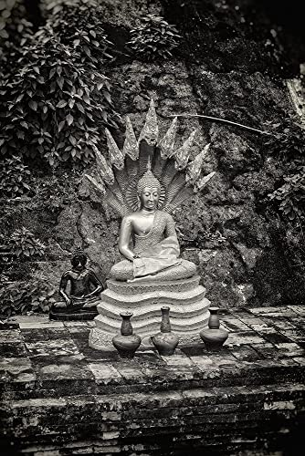 Fine art photography black and white photography travel photography thailand buddha
