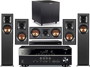 Yamaha 5.1-Channel Wireless Bluetooth 4K 3D A/V Surround Sound Receiver + Klipsch Multimedia Home Theater Speaker System (Bundle)