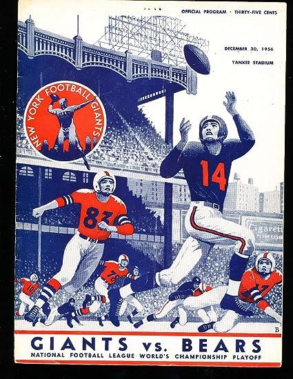 1956 1230 NFL Football championship program New York Giants vs