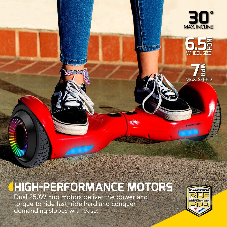 Swagboard Twist Lithium-Free Kids Hoverboard LED Black - 1