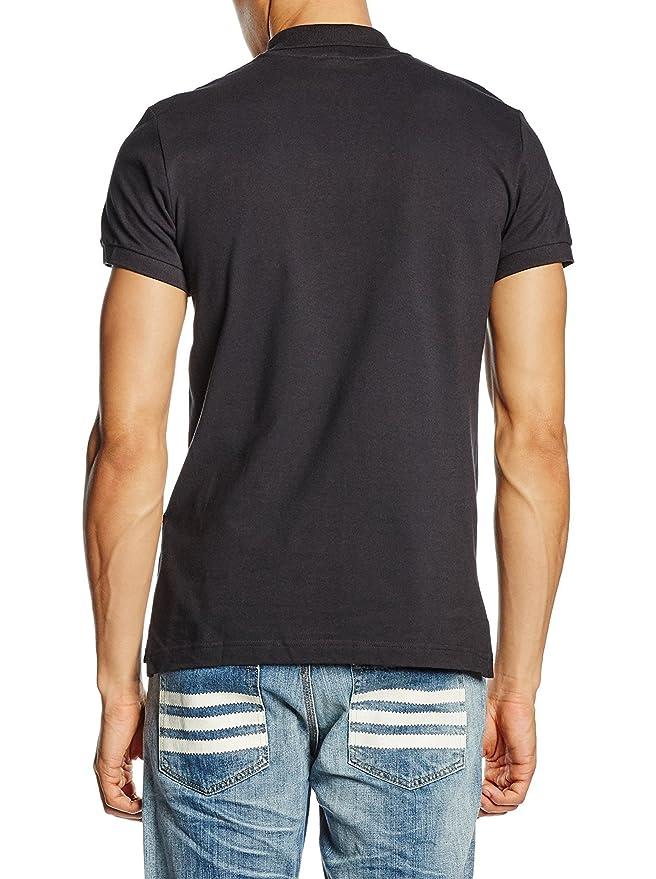 Polo adidas Originals � logo trifoli� pour homme en noir THYVaiBn7