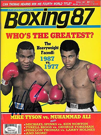 81eeaf60f7c Image Unavailable. Image not available for. Color  Mike Tyson Autographed  Signed Boxing Magazine - JSA Authentic
