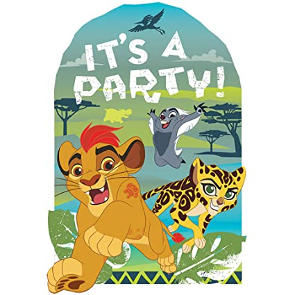 Amazoncom Lion Guard Invitations 8 count Lion King Birthday Party