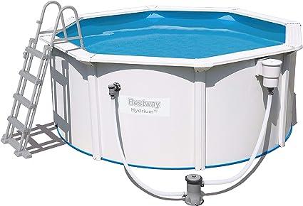 Bestway Hydrium Pool Set Piscina de Pared de Acero con Bomba de Filtro, Blanco, 300 x 120 cm: Amazon.es: Juguetes y juegos