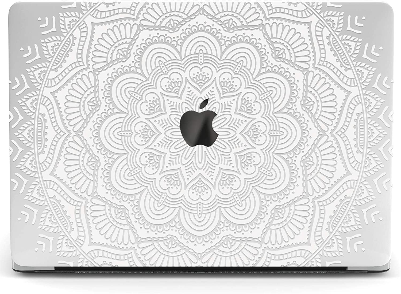 Wonder Wild Mac Retina Cover Case for MacBook Pro 15 inch 12 11 Clear Hard Air 13 Apple 2019 Protective Laptop 2018 2017 2016 2020 Plastic Print Touch Bar Boho White Mandala Ornament Elegant Pattern