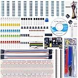 UNIROI 40種キット arduinoとRaspberry Pi用セット 初心者 UNO R3 PNP S8550+電解コンデンサ+電源モジュール 電子工作 キット ブレッドボード mega/uno 3 2 model B A A+ +に互換 UA001