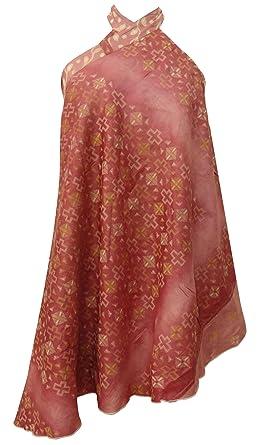 Vestidos de dormir de seda pura impresa reversible Hippie falda ...