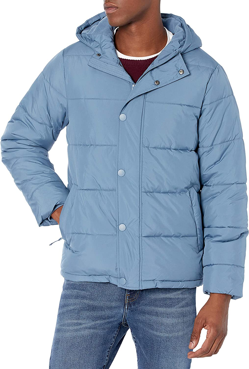 Amazon Essentials Men's Heavyweight Hooded Puffer Coat