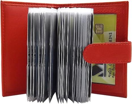 Noir Cuir de veau porte cartes de cr/édit MJ-Design-Germany en 3 diff/érentes couleurs