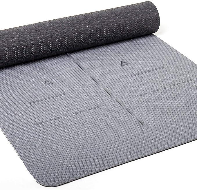 Heathyoga Eco Friendly Non Slip Yoga Mat - best yoga mats for sweaty hands