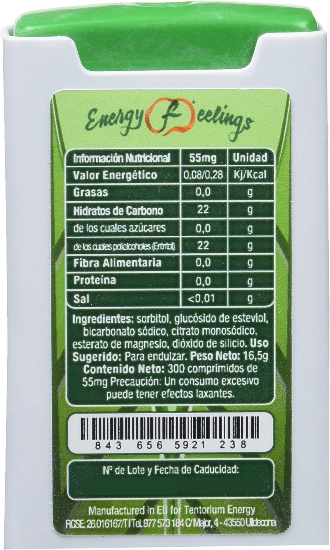 Energy Feelings Stevia Comprimidos - 4 Paquetes de 300 Cápsulas ...