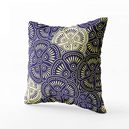Enjoyable Grootey Decorative Pillows Square Pillow Covers With Zip Couch Sofa Decor Fancy Floral Background 16X16 Throw Cushion Inzonedesignstudio Interior Chair Design Inzonedesignstudiocom