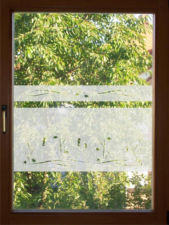 rs-interhandel® 9 / 9cm hoch Sichtschutz Folie Bad Badezimmer
