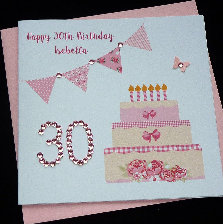 Handmade personalised birthday card any age amazon handmade kristyandbryce Images