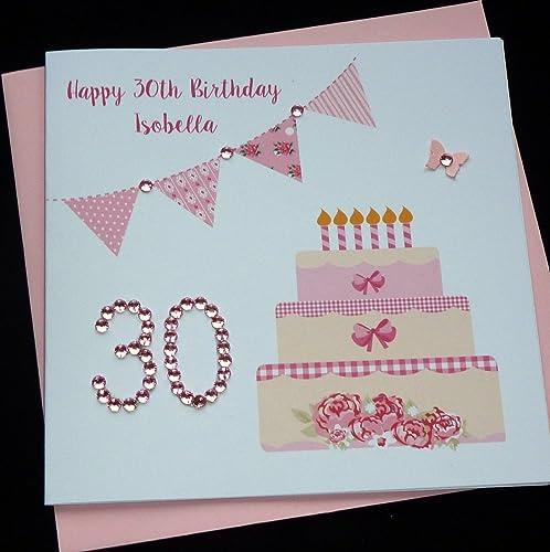 Handmade Personalised Birthday Card any age Amazoncouk Handmade – Personalised Birthday Card Uk
