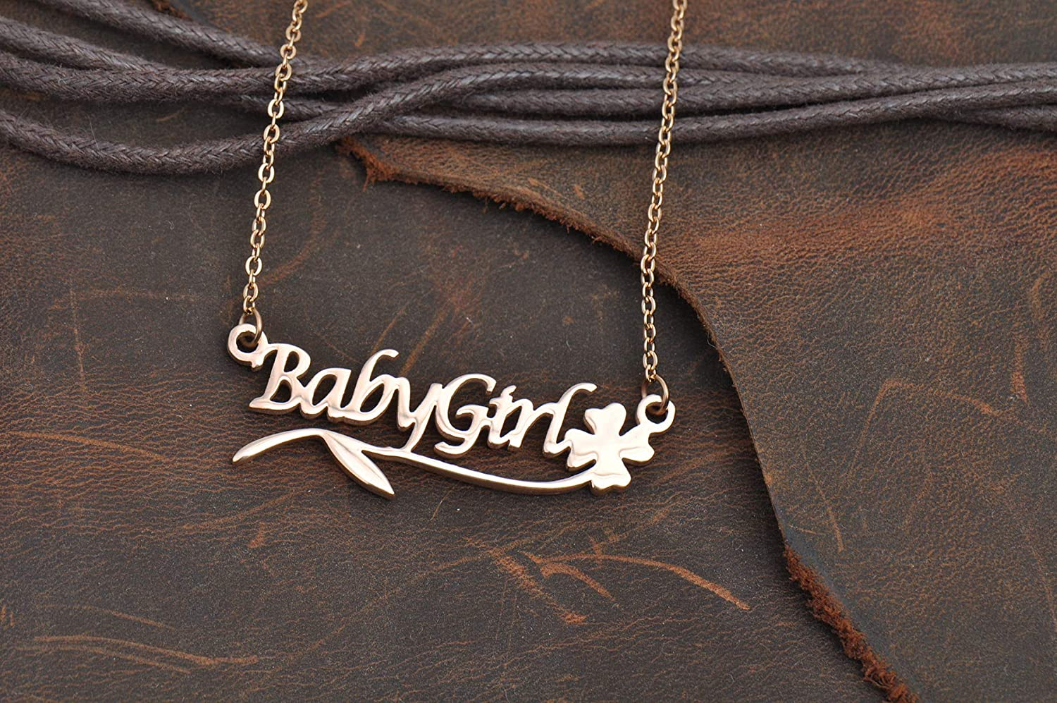 LikeFun Personalized Customized Bridesmaid Gift Name Necklace Best Words Womens Jewelry