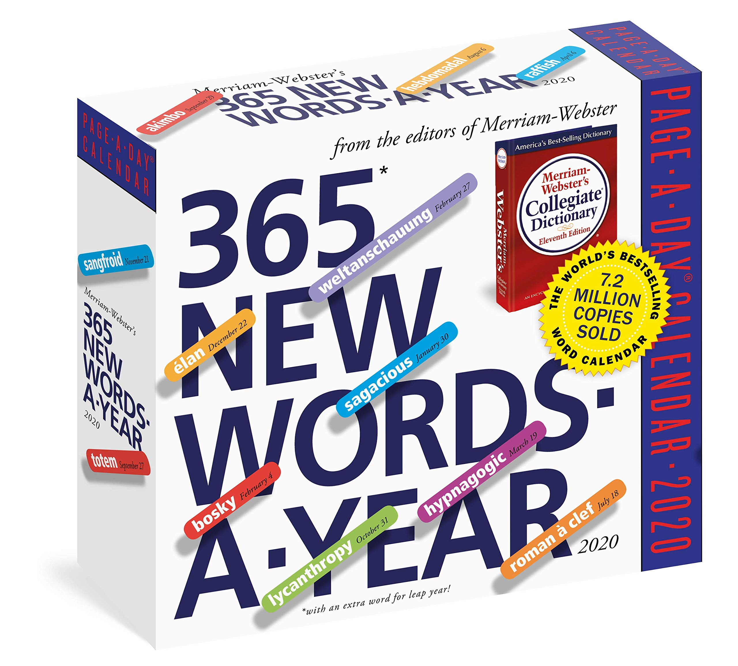 365 New Words A Year Page A Day Calendar 2020 9781523506538 Merriam Webster Workman Calendars Books