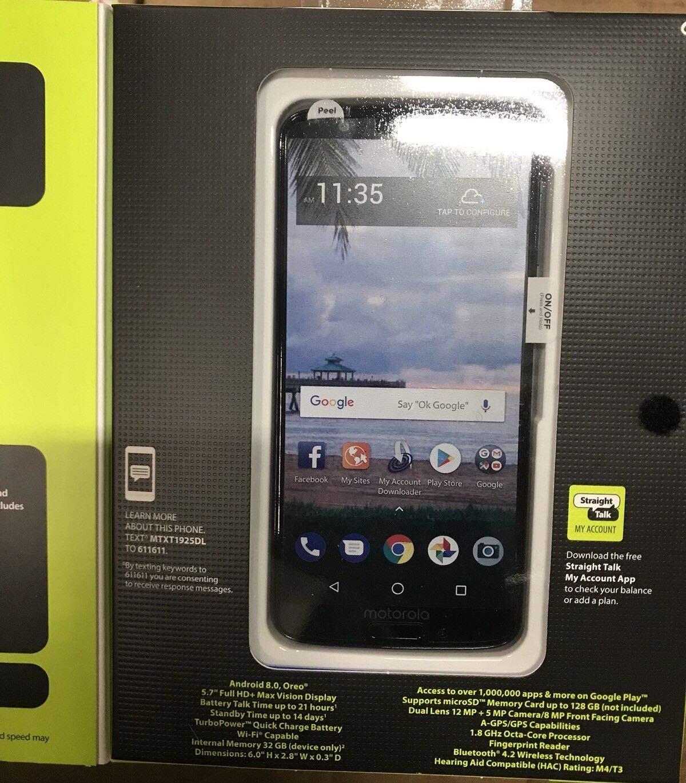 Amazon com: Straight Talk Motorola G6 Prepaid Smartphone