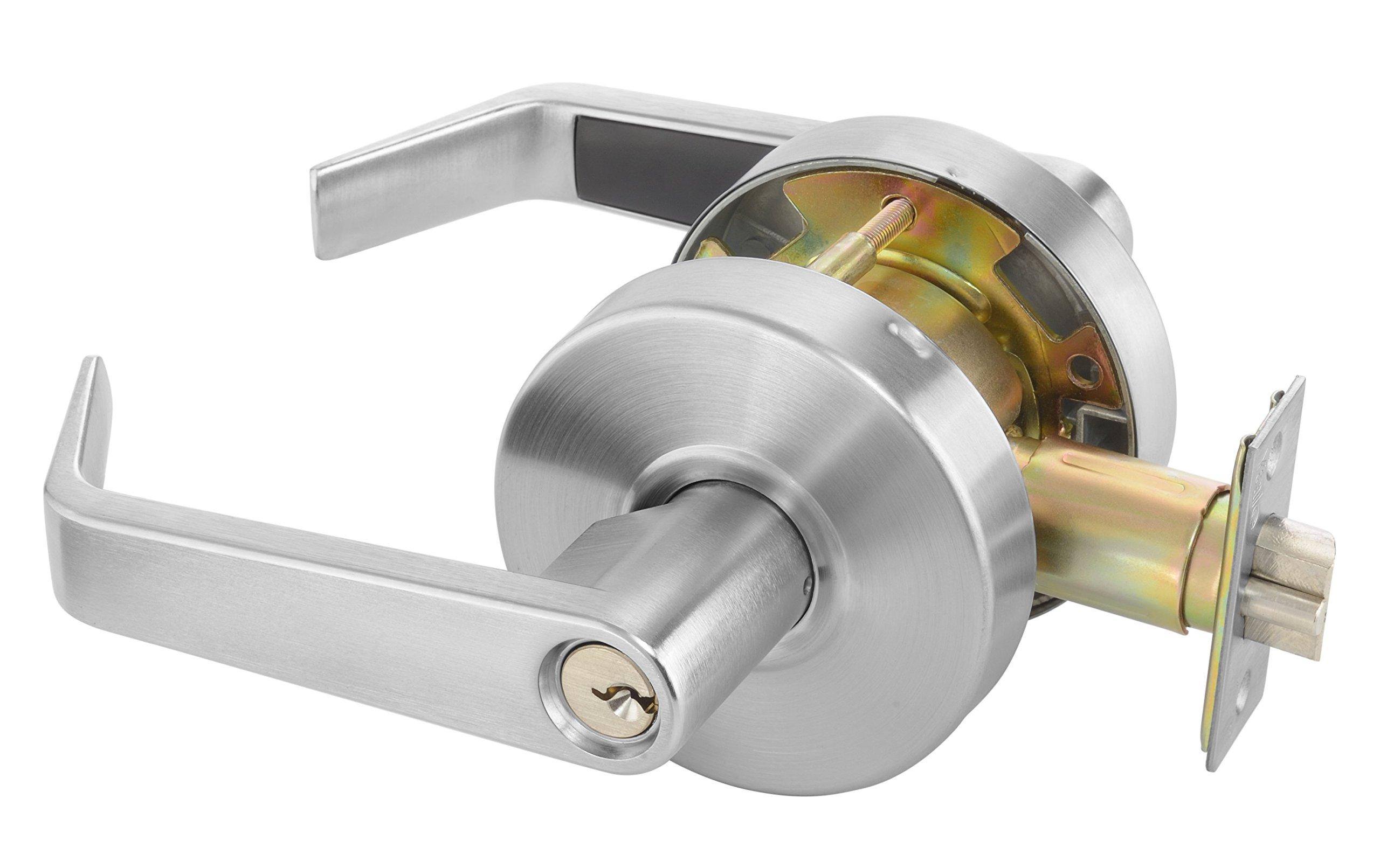 Yale AU 4608LN x 626 x 1806 KR Cylindrical Lockset, Grade 2, Classroom Function, Para Keyway, Keyed Random, 6 Pin, 2 3/4'' Backset, 626 Satin Chrome Finish by Yale