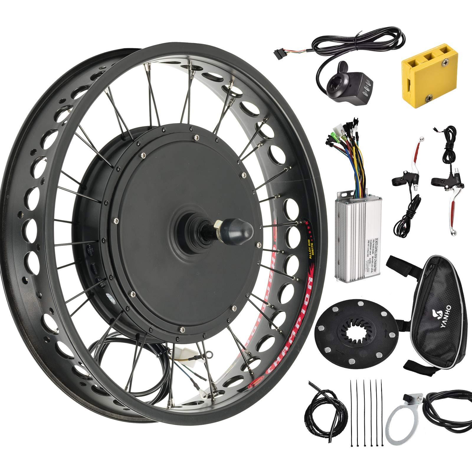 Murtisol Electric E-Bike Motor Kit 20'' Fat Tire Rear Wheel 48V 1000W Bicycle Motor Conversion Kit