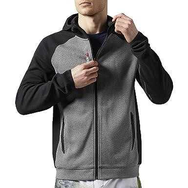 2fcece1f8c Reebok One Series Mens Full Zip Quik Cotton Hoodie - XL  Amazon.co ...
