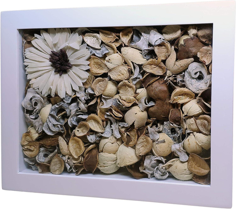 Wengue XL, 50 x 24,6 x 5 cm empreinte de b/éb/é souvenirs de mariage Cadre photo 3d original profond pour placer des objets /à lint/érieur photos de bapt/ême etc.