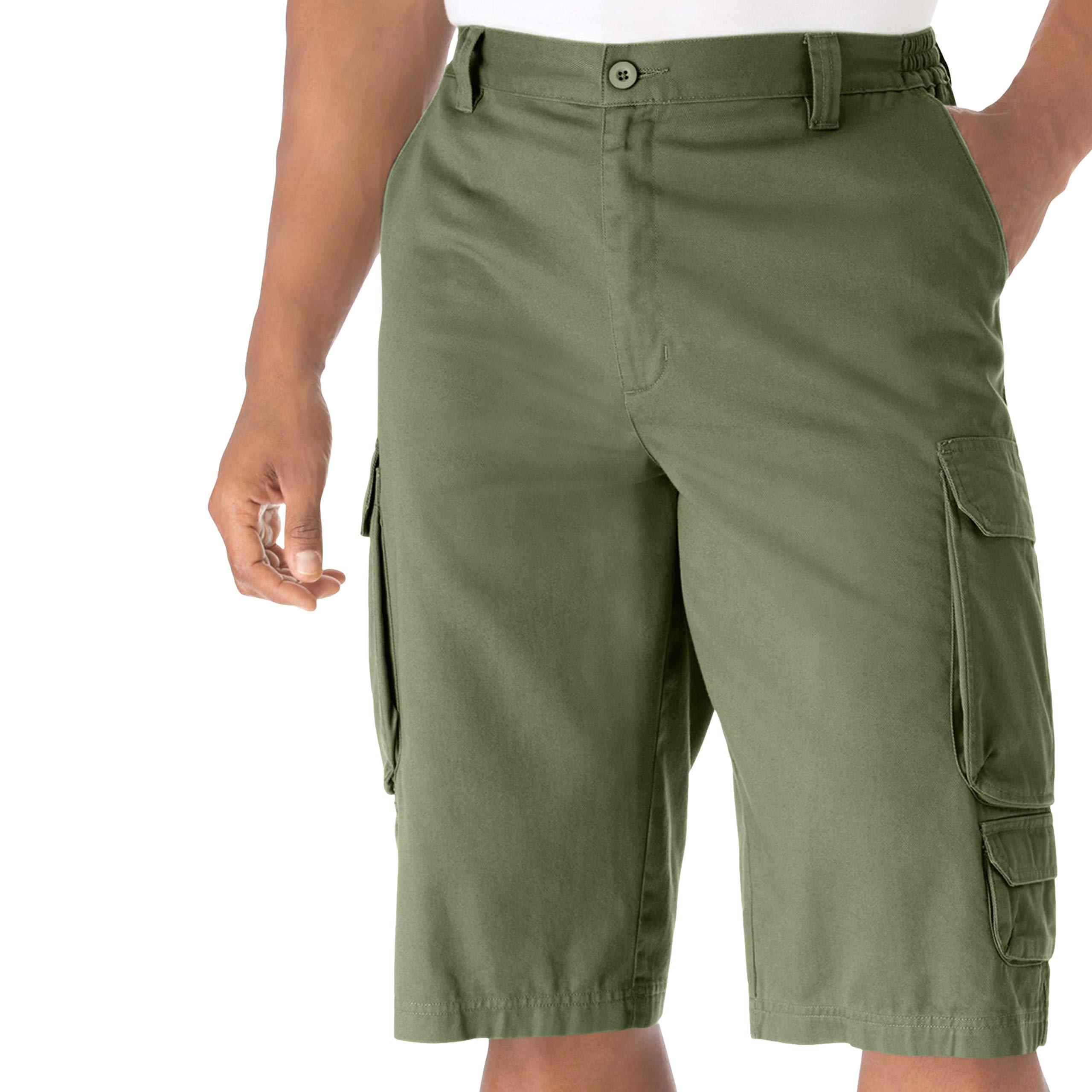 KingSize Men's Big & Tall 14'' Cargo Shorts, Safari Green Big-48